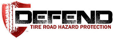 Sonsio's DEFEND Tire Road Hazard Protection™ warranty insurance logo