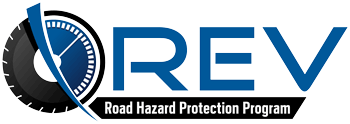 Sonsio's REV Tire Road Hazard Protection™ warranty insurance logo