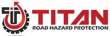 Sonsio's TITAN Tire Road Hazard Protection™ logo